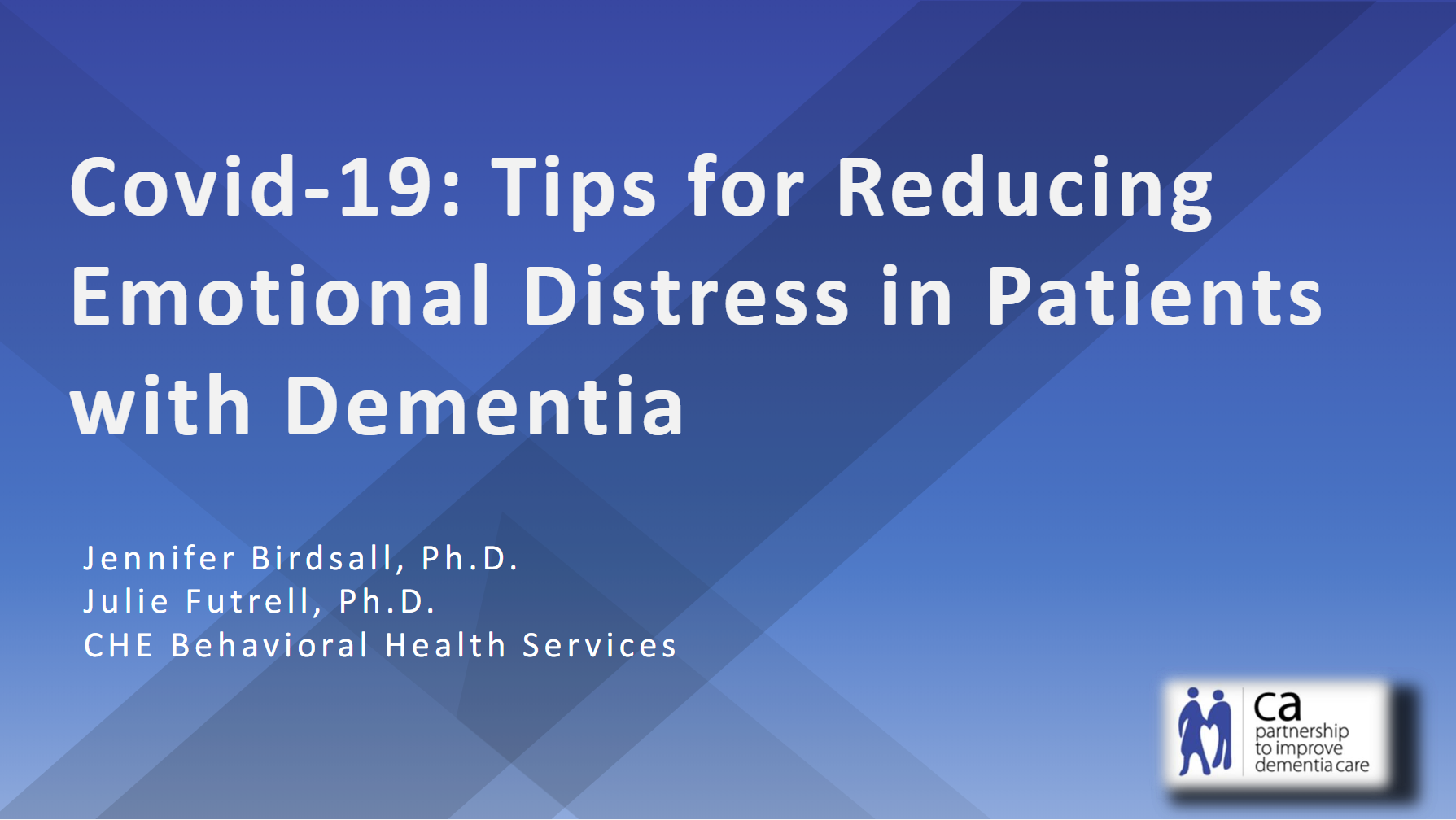 Tips for Reducing Emotional Distress in Patients with Dementia