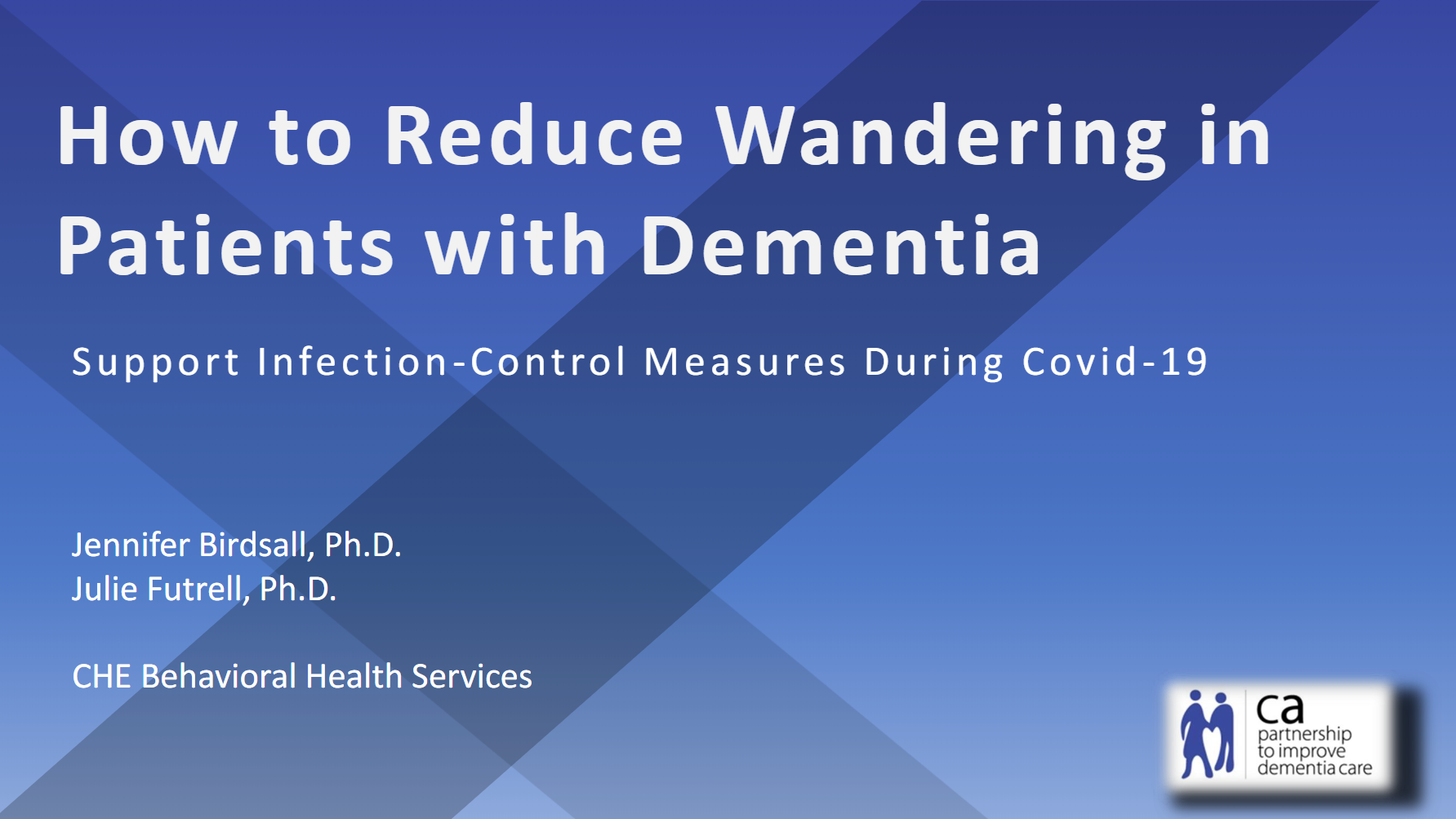 How to Reduce Wandering in Paitients with Dementia